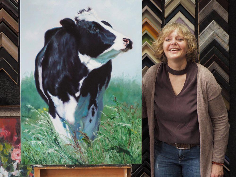 Koeienschilderij galerie aanblick
